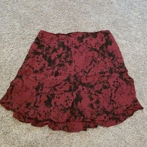 NWOT Dark Red and Black BR Skirt